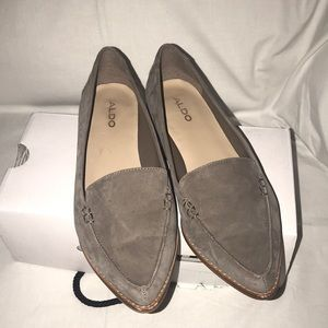 Aldo Gray Suede Loafers